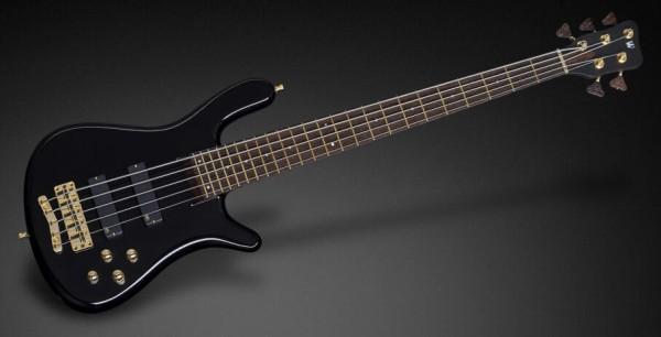 Warwick Custom Shop Streamer Stage I, 5-String - Solid Black High Polish - 17-3723