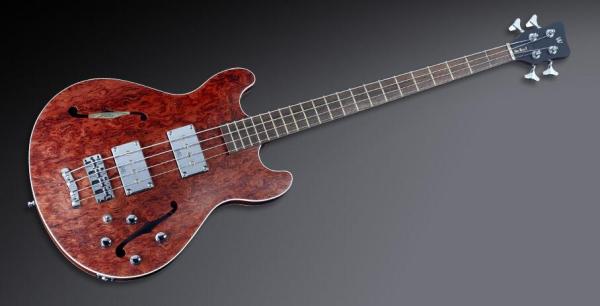 Warwick Masterbuilt Star Bass II Bubinga, 4-String - Natural Transparent Satin, Chrome Hardware