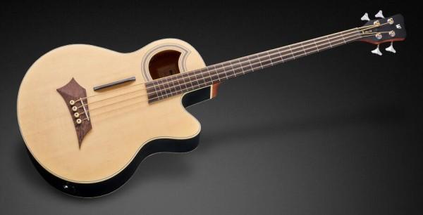 Warwick RockBass Alien Standard, 4-String, Fretless with Lines - Natural Transparent Satin