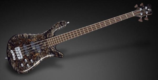 Warwick Custom Shop Streamer LX, 4-String - Bleached Nirvana Black Transparent High Polish - 17-3529