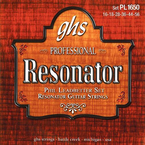 GHS Professional - Phil Leadbatter Signature - Resonator String Set, .016-.056