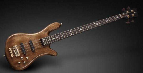 Warwick Masterbuilt Streamer Stage II, 4-String - Bleached Nirvana Black Transparent High Polish