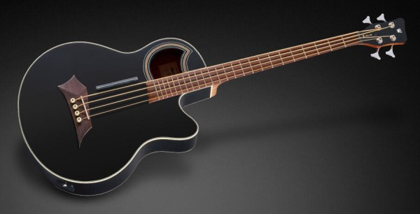 Warwick RockBass Alien Standard, 4-String - Solid Black Satin