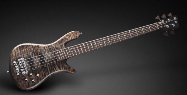 Warwick Masterbuilt Streamer LX, 5-String - Bleached Nirvana Black Transparent Satin