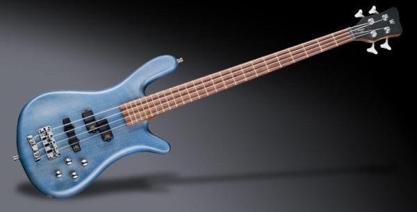 Warwick Teambuilt Pro Series Streamer LX, 4-String - Ocean Blue Transparent Satin