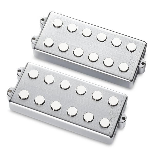 MEC Passive MM-Style Bass Pickup Set, Metal Cover, 6-String