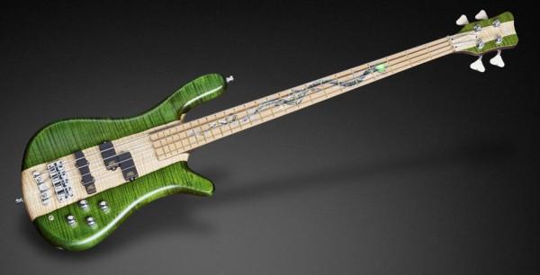 Warwick Custom Shop Streamer LX, 4-String - Emeraude Green Transparent Satin / Natural Oil Finish - 16-3283