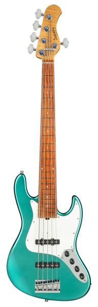 Sadowsky Custom Shop 21-Fret Vintage J/J Bass, 5-String - Solid Pelham Blue High Polish - 20-04187