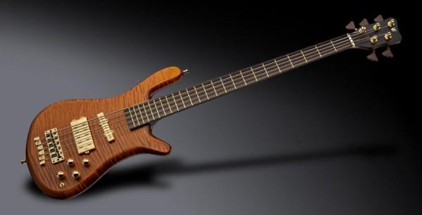 Warwick Masterbuilt Streamer Jazzman, 5- String - Amber Transparent Satin