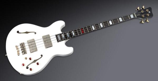 Warwick Custom Shop Star Bass II, 4-String - Solid Creme White High Polish - 14-2538