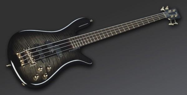 Warwick Masterbuilt Streamer Stage I, 4-String - Nirvana Blackburst Transparent High Polish