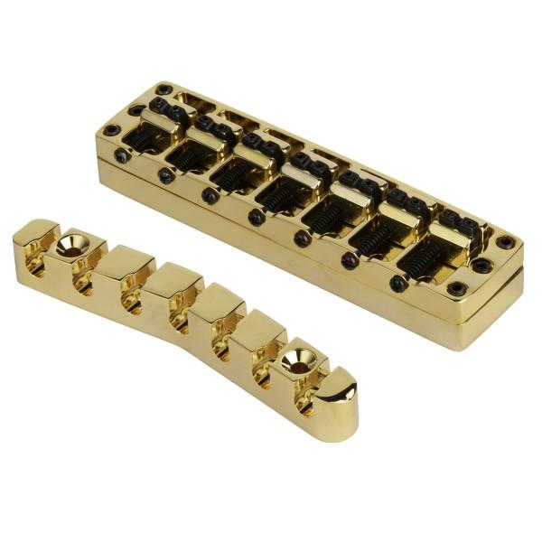 Warwick (Brass) 2-Piece 3D Bridge & Tailpiece, 7-String
