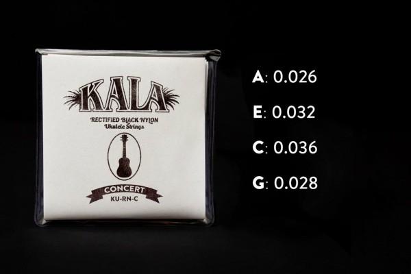 KALA Rectified Black Nylon Ukulele String Sets