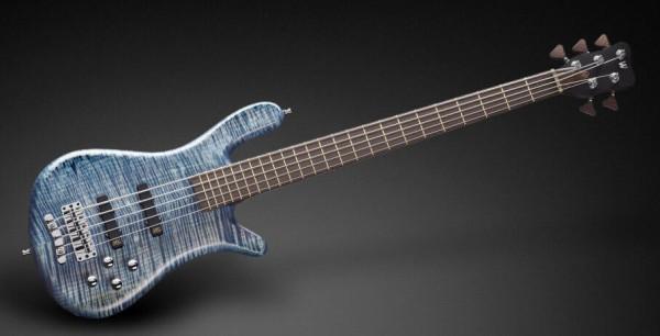 Warwick Masterbuilt Streamer LX, 5-String - Bleached Ocean Blue Transparent Satin