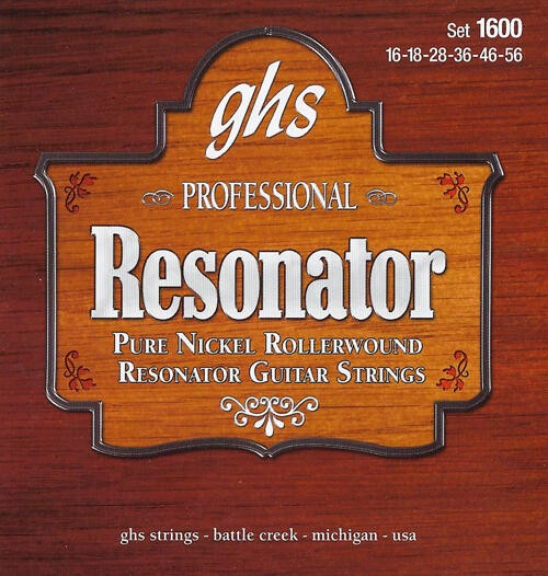 GHS Professional - Resonator String String Set, Nickel, Semi Flat, .016-.056
