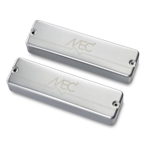 MEC Passive Soapbar Humbucker Bass Pickup Set, Metal Cover, 6-String