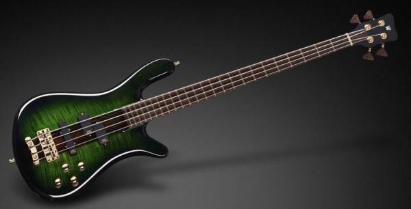 Warwick Masterbuilt Streamer Stage I, 4-String - Green Blackburst Transparent High Polish
