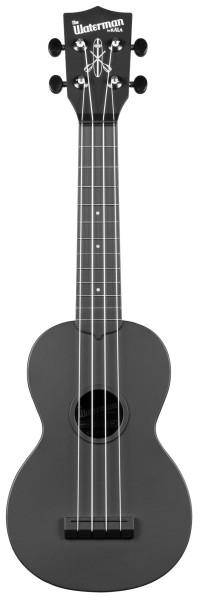 KALA Waterman KA-SWB-BK - Black Soprano Ukulele, with Tote Bag