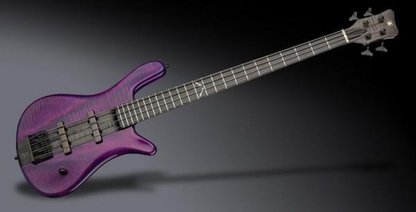 Warwick Custom Shop Robert Trujillo Signature, 4-String - Purple/Nirvana Black Transparent High Polish - 19-4053