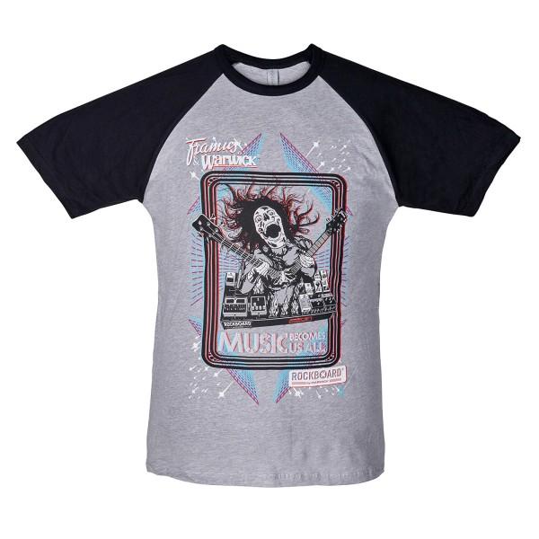 RockBoard Promo - Screamer Baseball T-Shirts - Gray/Black