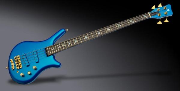 Warwick Custom Shop Thumb NT, 4-String- Solid Metallic Placide Blue High Polish- 19-4095