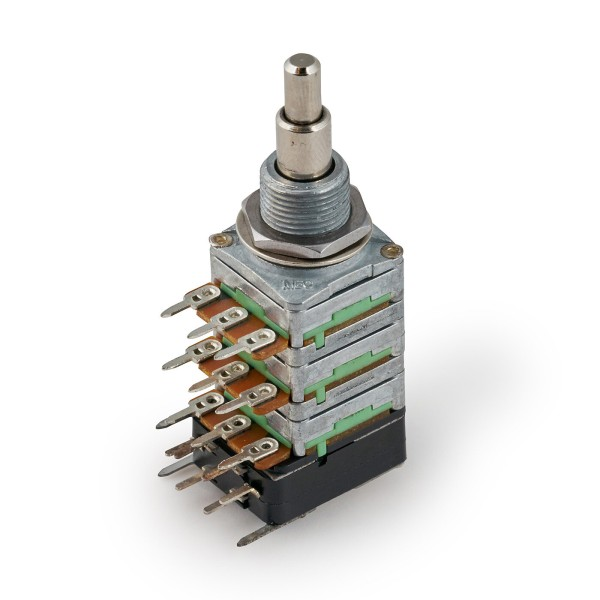 MEC Stereo + Mono Stacked Potentiometers with Push/Pull Function