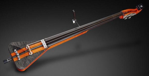 Warwick Custom Shop Triumph, 4-String - Orange Racing Stripe Design - 18-3738