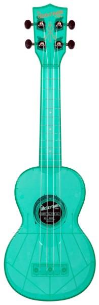 KALA Waterman KA-SWF-BL - Fluorescent Blue Raspberry Soprano Ukulele, with Tote Bag