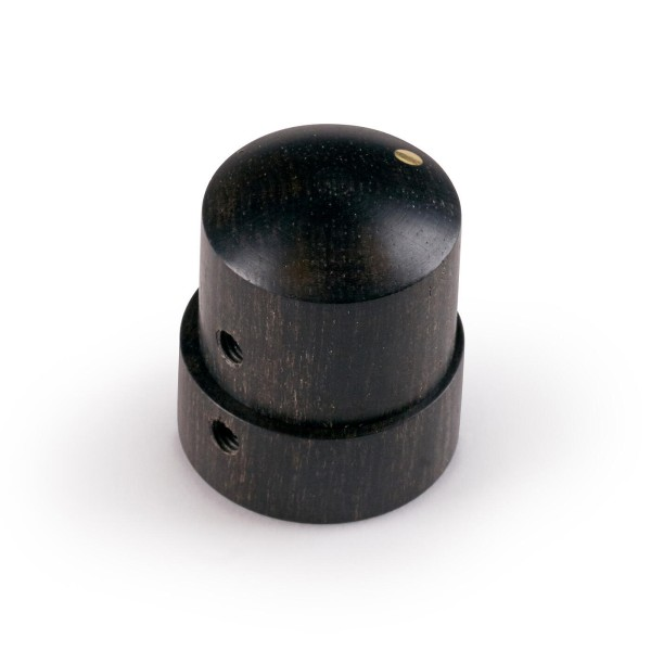 Framus & Warwick Parts - Wooden Stacked Dome Knob - Ebony