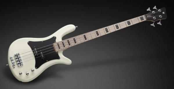 Warwick RockBass Artist Line Adam Clayton, 4-String - Solid Creme White High Polish