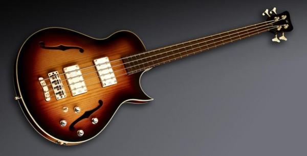 Warwick Custom Shop Star Bass SC, 4-String - Vintage Sunburst Transparent High Polish - 14-2516