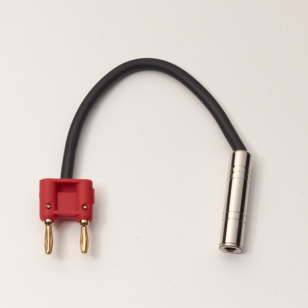 "RockCable Speaker Cable - Banana Plug (4 mm) to TS Plug (6,3 mm / 1/4"") - 20 cm / 7 7/8"""