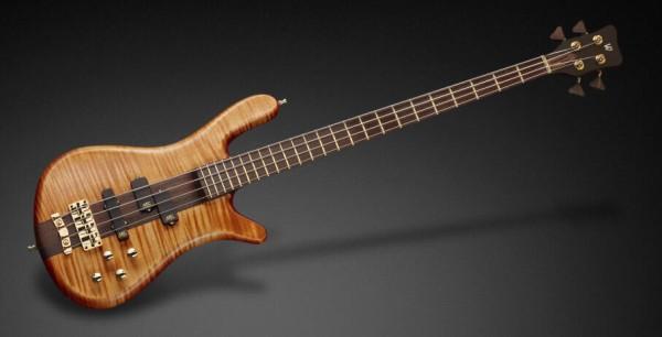 Warwick Masterbuilt Streamer Stage I, 4-String - Bleached Amber Transparent Satin