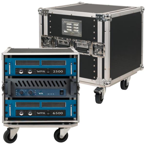 "RockCase - Standard Line - 19"" Rack Amp Flight Case 10HU"