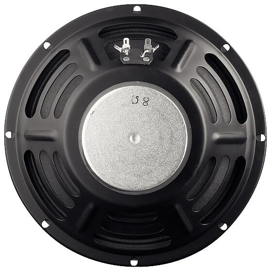 "10"" Speaker / 8 Ohm / 30 Watt / 95 dB / Range: 50-7000 Hz / Resonant Frequency: 100 Hz"