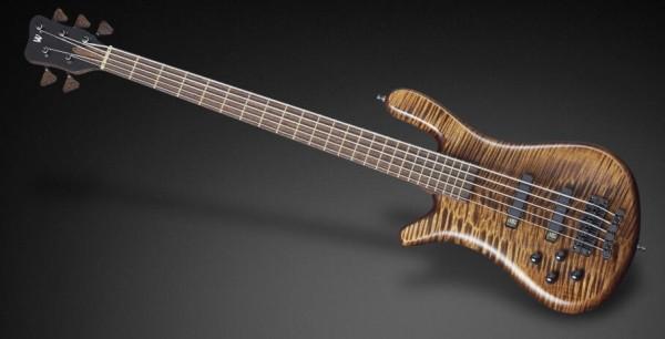 Warwick Custom Shop Streamer LX, Lefthand, 4-String - Nirvana Black Transparent Satin - 16-3153