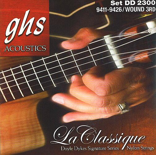 GHS La Classique - Doyle Dykes Signature - Classical Guitar String Set, Tie-On, wound 3rd G-String