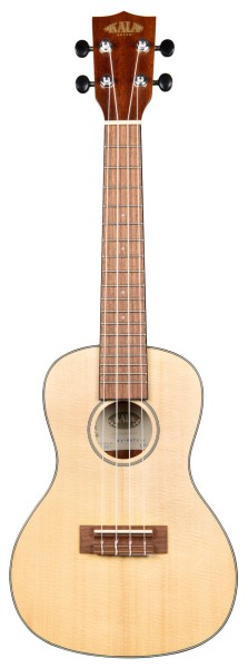 KALA KA-SSTU-C - Solid Spruce Travel Concert Ukulele, with Bag