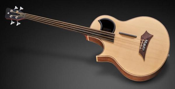 Warwick Alien, Lefthand, 4-String, Fretless - Natural Transparent Satin