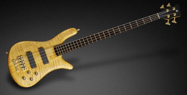 Warwick Custom Shop Streamer Stage I, 4-String - Honey Violin Transparent Satin - 17-3480