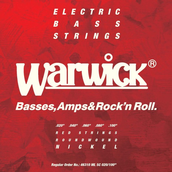 Warwick Red Label Bass String Sets, Nickel-Plated Steel - 5-String