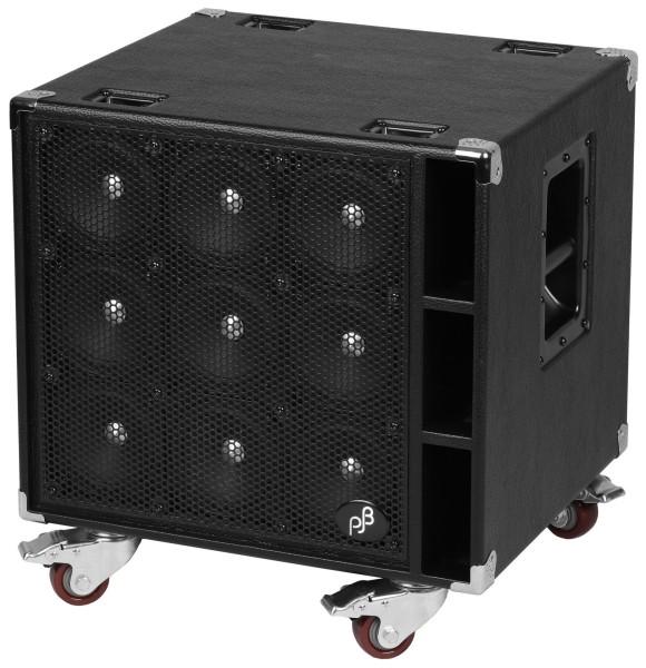 """Phil Jones Bass C9 - Compact 9 Bass Cabinet, 9x5"""", 900 Watt - Black"""