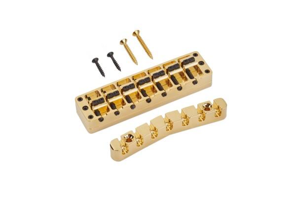 Warwick Bridge + Tailpiece, Broad Neck, (Brass), 7-String