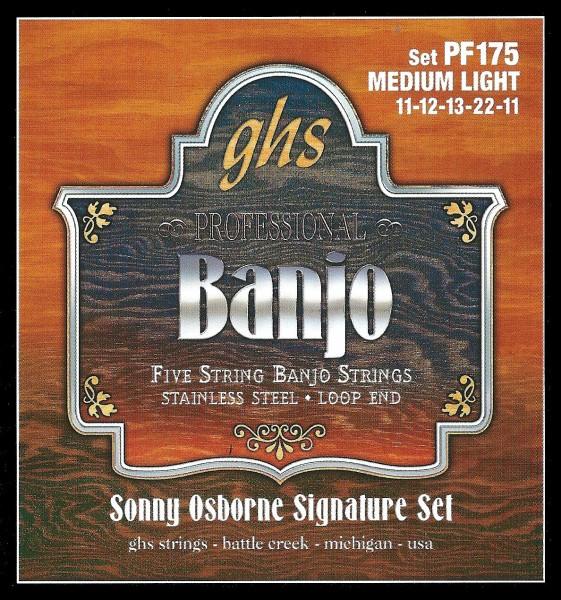 GHS Stainless Steel 5-String Banjo Sets