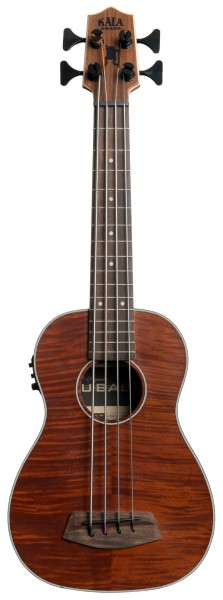 U-Bass Exotic Mahogany, Fretted, Metal Round Wound Strings, with Deluxe Bag