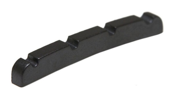 Black TUSQ XL PT-1214-00 - F-Style J- Style Bass Nut, Curved Bottom, Slotted, 4-String