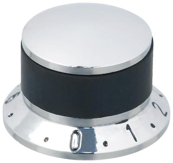 Framus Vintage - Chrome Potentiometer Knob Set, with Numeric Scale, 2 pcs