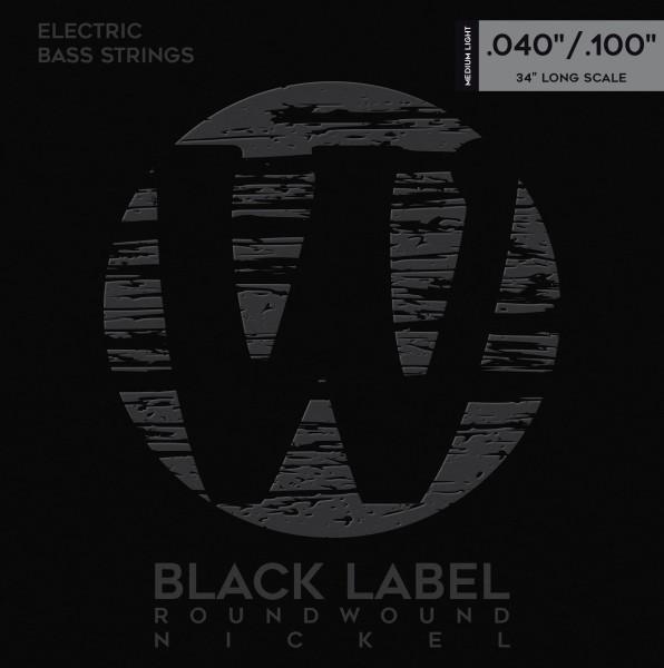 Warwick Black Label Bass String Sets, Nickel-Plated Steel - 4-String