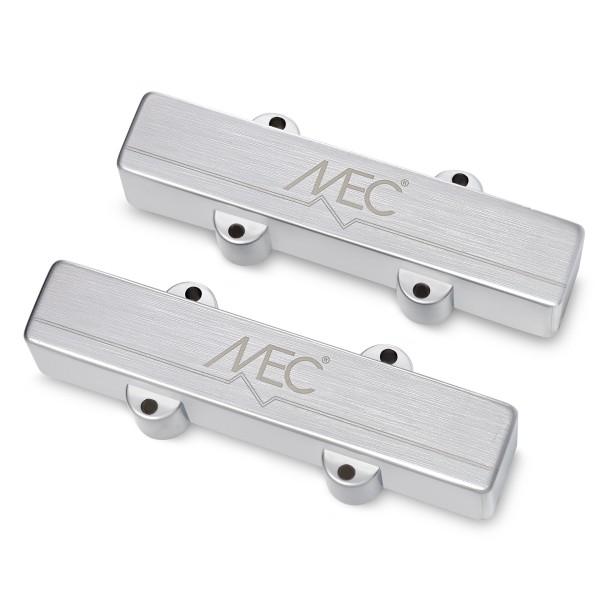 MEC Active J/J-Style Bass Pickup Set, Metal Cover, 5-String
