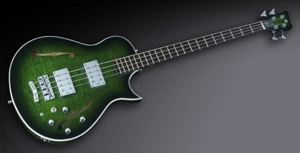 Warwick Custom Shop Star Bass SC, Green Blackburst Transparent High Polish - 13-2414